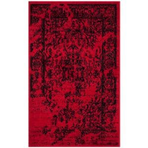 Adirondack Red/Black 3 ft. x 4 ft. Area Rug