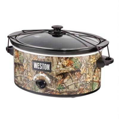 Realtree Edge 5 Qt. Camouflage Slow Cooker with Lid Strap