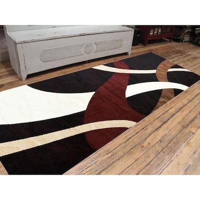 Nairobi Collection Black 3 ft. x 8 ft. Polypropylene Runner Rug