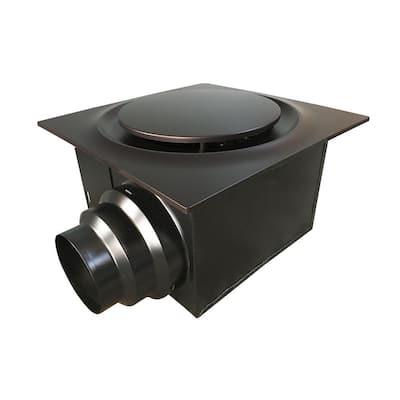 Low Profile 110 CFM Oil Rubbed Bronze 0.9 Sones Quiet Ceiling Bathroom Ventilation Fan with LED Light/Night Light