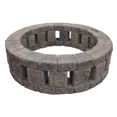 Stonehenge 58 in. x 16 in. Concrete Fire Pit Kit in Cascade Blend
