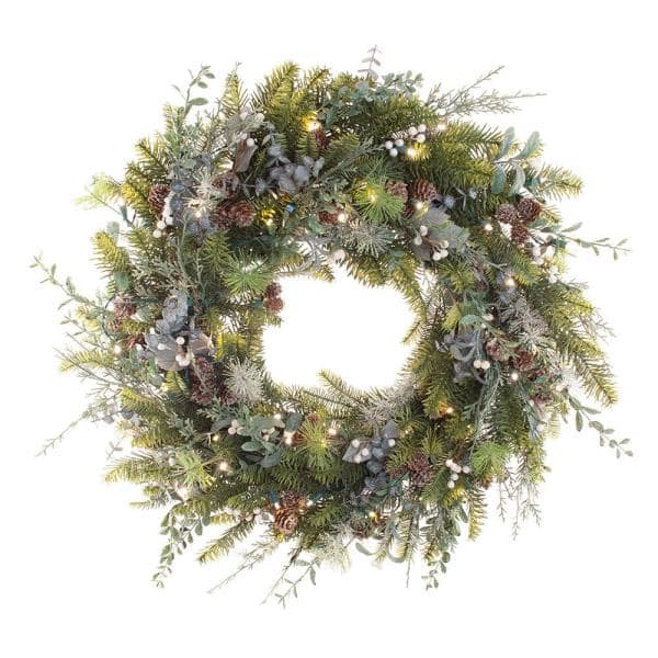 White Berry Iced Pine Wreath