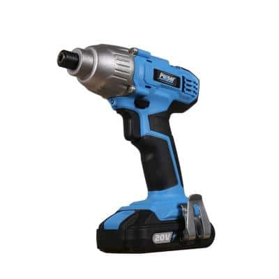 20-Volt Lithium-Ion Cordless 1/4 in. Hex Impact Driver with (1) 2 Ah Battery, 1-Hour Charger, and LED Light