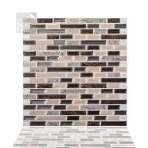 Como Crema 12 in. W x 12 in. H Peel and Stick Decorative Mosaic Wall Tile Backsplash (10-Tiles)
