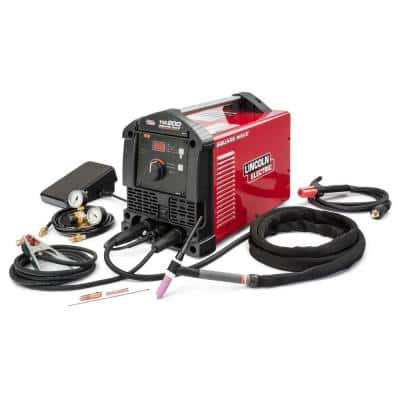 200 Amp Square Wave TIG 200 TIG Welder with Torch and Foot Pedal 120-Volt/230-Volt