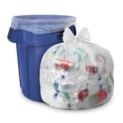 33 Gal. 1.5 mil equiv. Heavy-Duty Clear Recycling Bags (100-Count)
