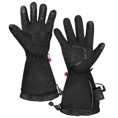 Men's Large/Extra-Large Black AA Heated Fleece Gloves 2.0