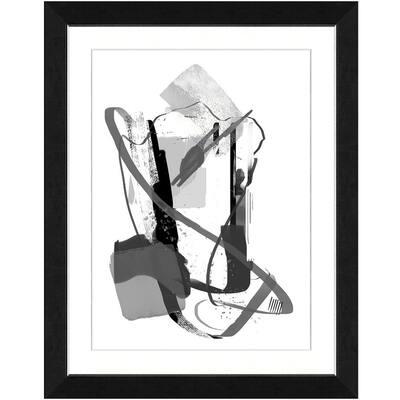 20 in. x 24 in. Calming grays III Framed Archival Paper Wall Art