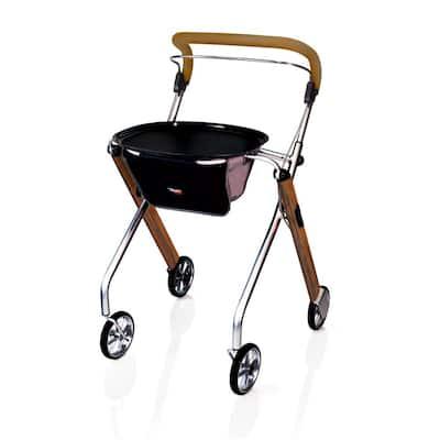 4-Wheels Let's Go Indoor Rollator with in Walnut