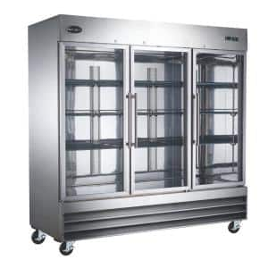 81 in. W 72 cu. ft. Freezerless Commercial Refrigerator in Stainless Steel