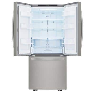 30 in. W 21.8 cu. ft. French Door Refrigerator in Stainless Steel