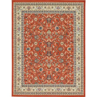 Orange 10 X 13 Area Rugs Rugs The Home Depot