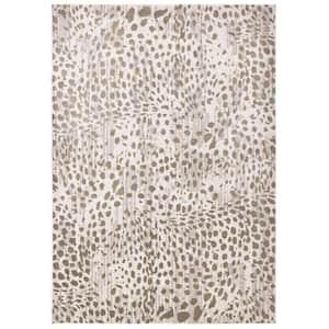 Vanhorn Brown/Ivory 7 ft. x 10 ft. Animal Print Polyester Area Rug