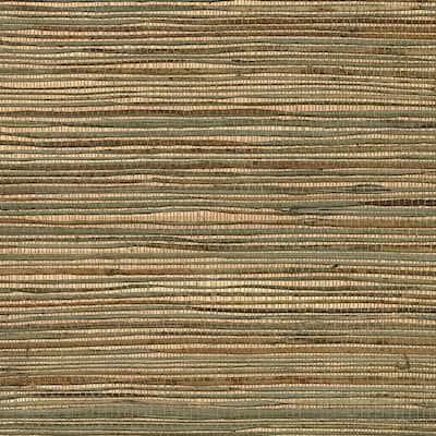 Ozamiz Copper Grasscloth Copper Wallpaper Sample