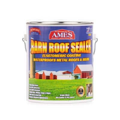 1 Gal. White Barn Roof Sealer Waterproof Metal Roof and Silo Reflective Roof Coating