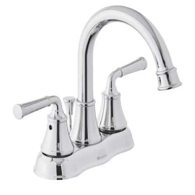 Dunston 4 in. Centerset 2-Handle High-Arc Bathroom Faucet in Chrome
