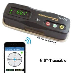 6 in. 2-Axis Smart Machinist Digital Level Bluetooth 0.002/feet (0.2 mm/m) NIST-Traceable