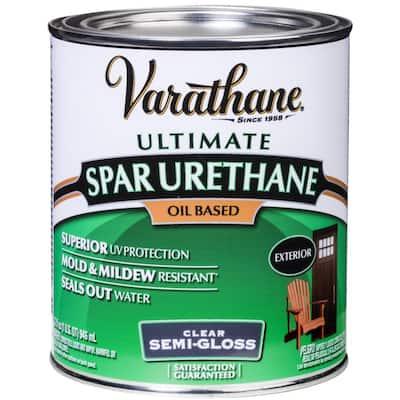 1 qt. Clear Semi-Gloss Oil-Based Exterior Spar Urethane (2-Pack)