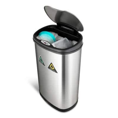 13.2 Gal. Sensor Trash Can/Recycler Infrared Touchless Automatic Motion Sensor Lid