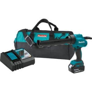 10 oz. 18-Volt Lithium-Ion Cordless Caulk and Adhesive Gun Kit with One 5.0Ah Battery Rapid Charger and Tool Bag