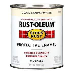 1 qt. Protective Enamel Gloss Canvas White Interior/Exterior Paint (2-Pack)
