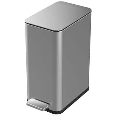 2.6 Gal. Stainless Steel Slim Step-On Trash Can
