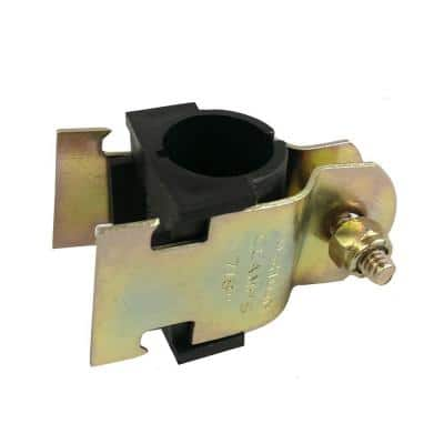 2 in. Yellow Zinc Coated Cushion Strut Clamp with Insulator