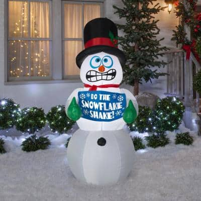 6 ft. Pre-Lit Life Size Airblown Inflatable Shivering Snowman