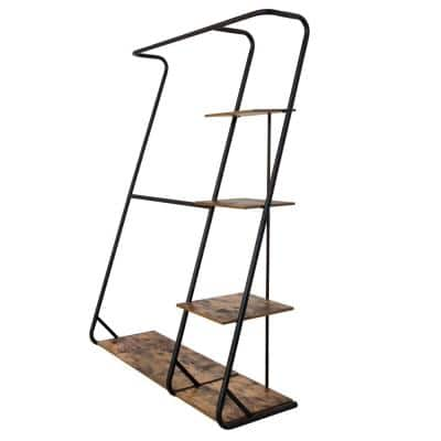 Rustic Z-Frame Wood Clothes Rack (17 in. W x 68 in. H)