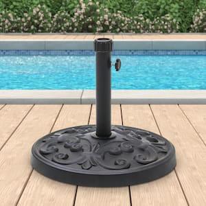 27 lbs. Heavy-Duty Resin Patio Umbrella Base in Black