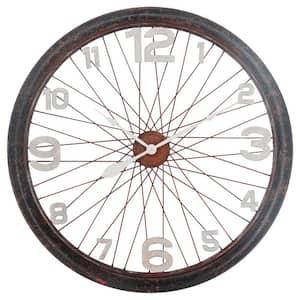 Bicycle Mood Unique Design Black/Brown Wall Clock