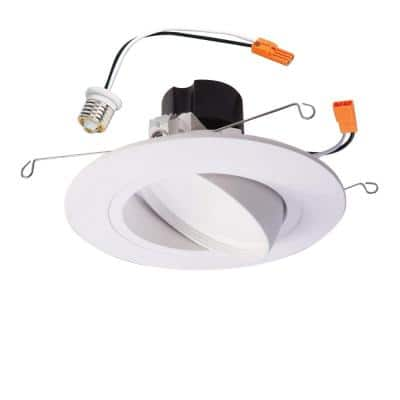 5 in. and 6 in. 3000K White Integrated LED Adjustable Gimbal Recessed Trim Module 90 CRI CCT Title 20 Compliant