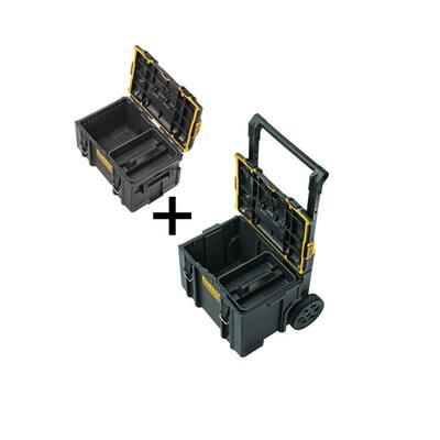 TOUGHSYSTEM 2.0 22 in. Medium Tool Box with Bonus 24 in. Mobile Tool Box