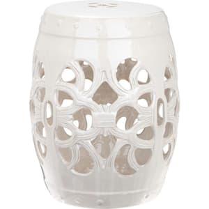 Imperial Vine Antique White Ceramic Garden Stool