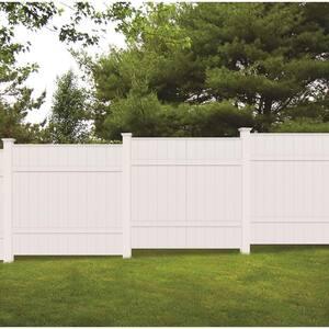 5 in. x 5 in. x 8 ft. White Vinyl Fence Post