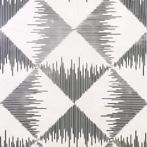 Aztec Geometric Mono Non-Woven Peel and Stick Wallpaper