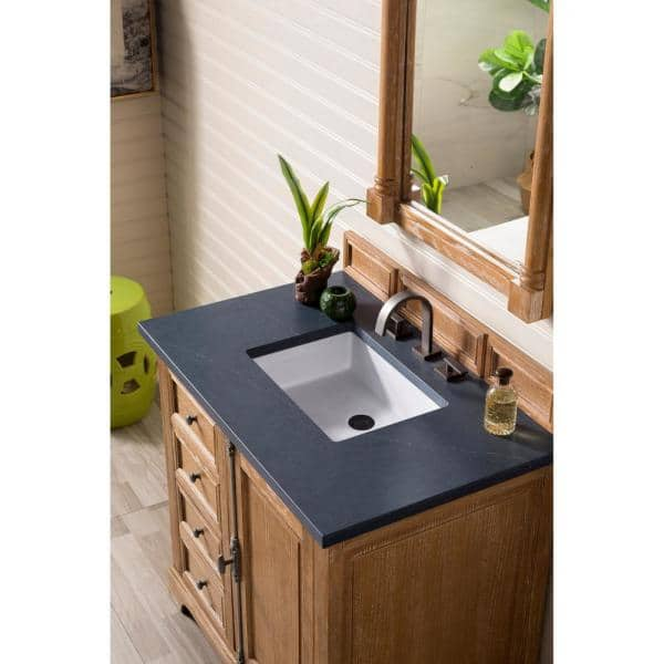 James Martin Vanities Providence 36 In Single Bath Vanity In Driftwood With Quartz Vanity Top In Charcoal Soapstone With White Basin 238 105 5511 3csp The Home Depot