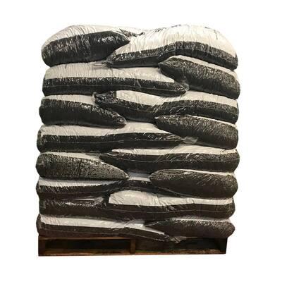 37.5 cu. ft. Black Rubber Mulch (25 Bags)