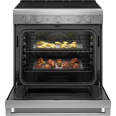 5.7 cu. ft. Smart Slide in Electric Range with Self Cleaning Convection Oven in Stainless Steel