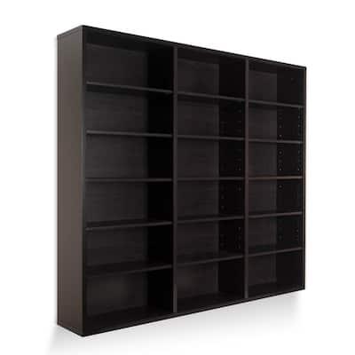 Oskar 540 Wall Mounted Media Storage Cabinet Espresso