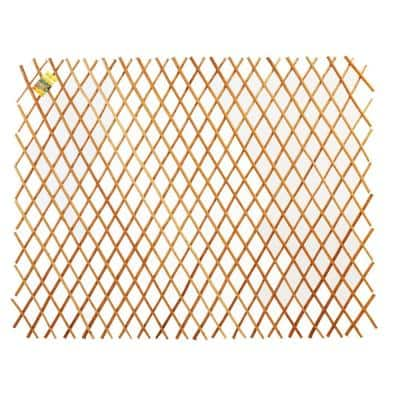 36 in. H x 72 in. L Expandable Peeled Carbonized Willow Wood Trellis Fence