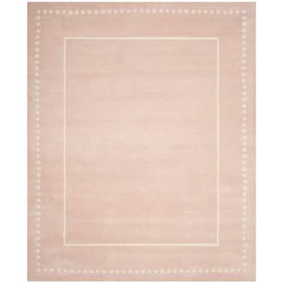 Bella Light Pink/Ivory 8 ft. x 10 ft. Border Area Rug