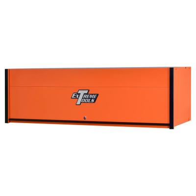 RX Professional 72 in. 0-Drawer Extreme Power Workstation Hutch in Orange with Black Handle