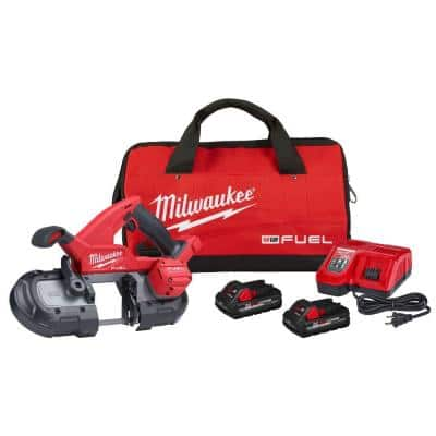 M18 FUEL 18-Volt Lithium-Ion Brushless Cordless Compact Bandsaw Kit with Two 3.0 Ah High Output Batteries
