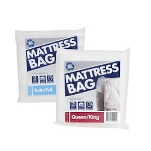 Twin/Full Mattress Bag Plus Queen/King Mattress Bag Combo Pack