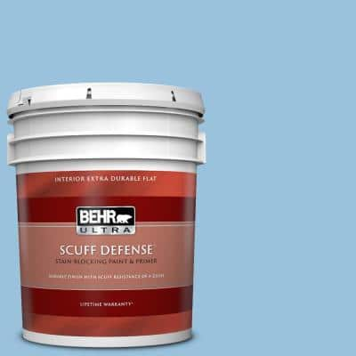 5 gal. #M520-3 Charismatic Sky Extra-Durable Flat Interior Paint & Primer