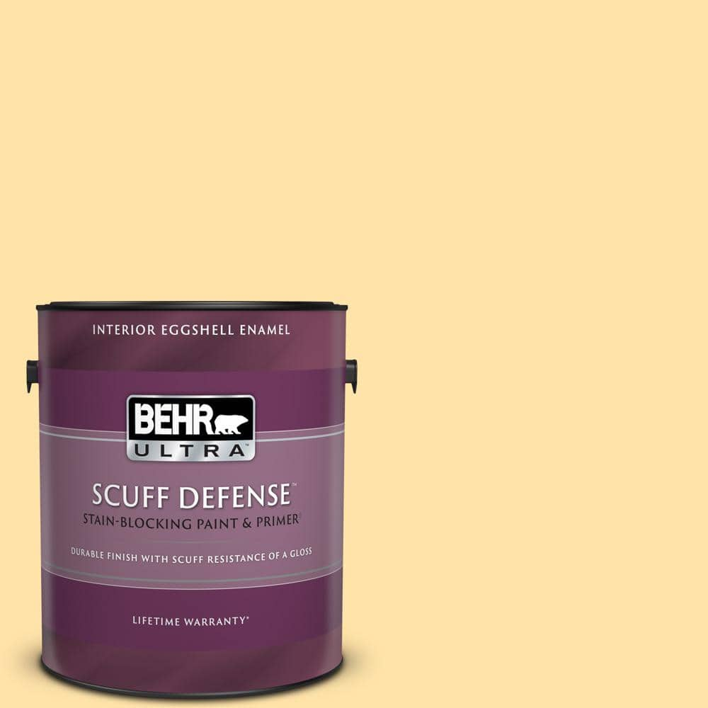 Behr Ultra 1 Gal P270 3 Sunflower Seed Extra Durable Eggshell Enamel Interior Paint Primer 275001 The Home Depot