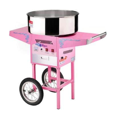 Vortex Commercial Pink Cotton Candy Machine and Cart