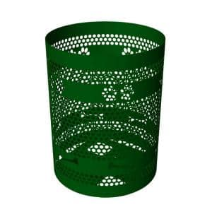 32-Gal. Green Commercial Trash Receptacle
