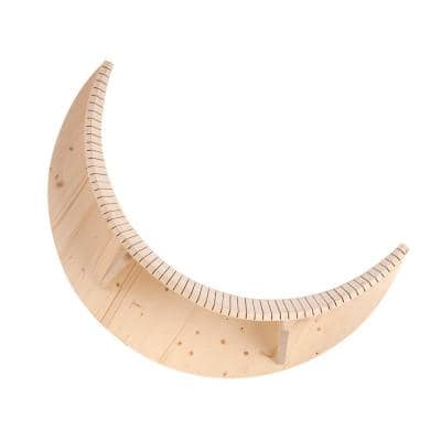 MYZOO Medium Luna Crescent Moon Shape Wall Mounted Wood Cat Bed